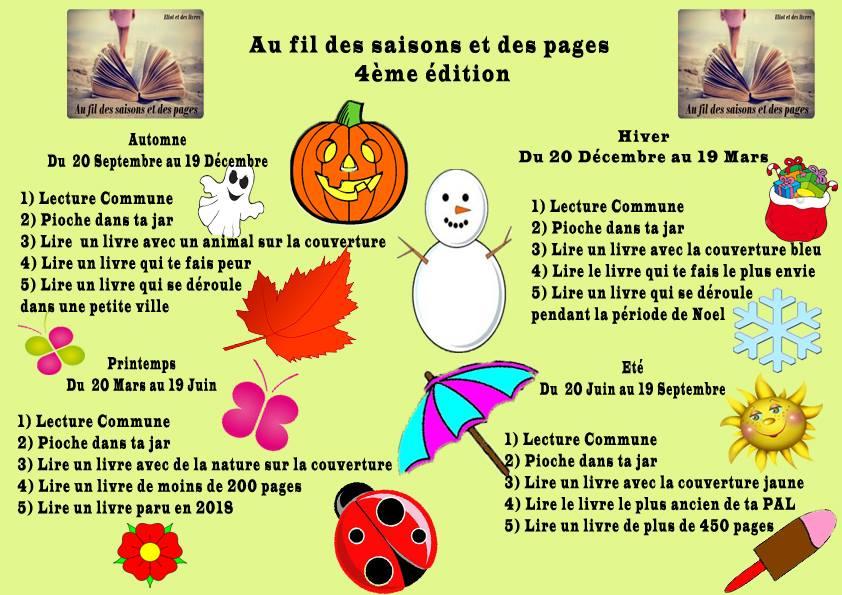 Challenge au fil des saisons et des pages